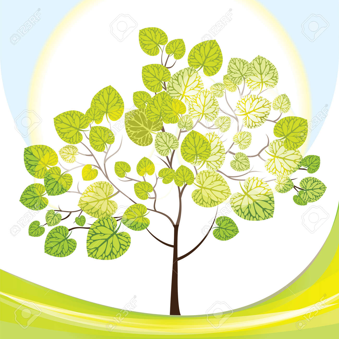 tree with green leaves - 15866813