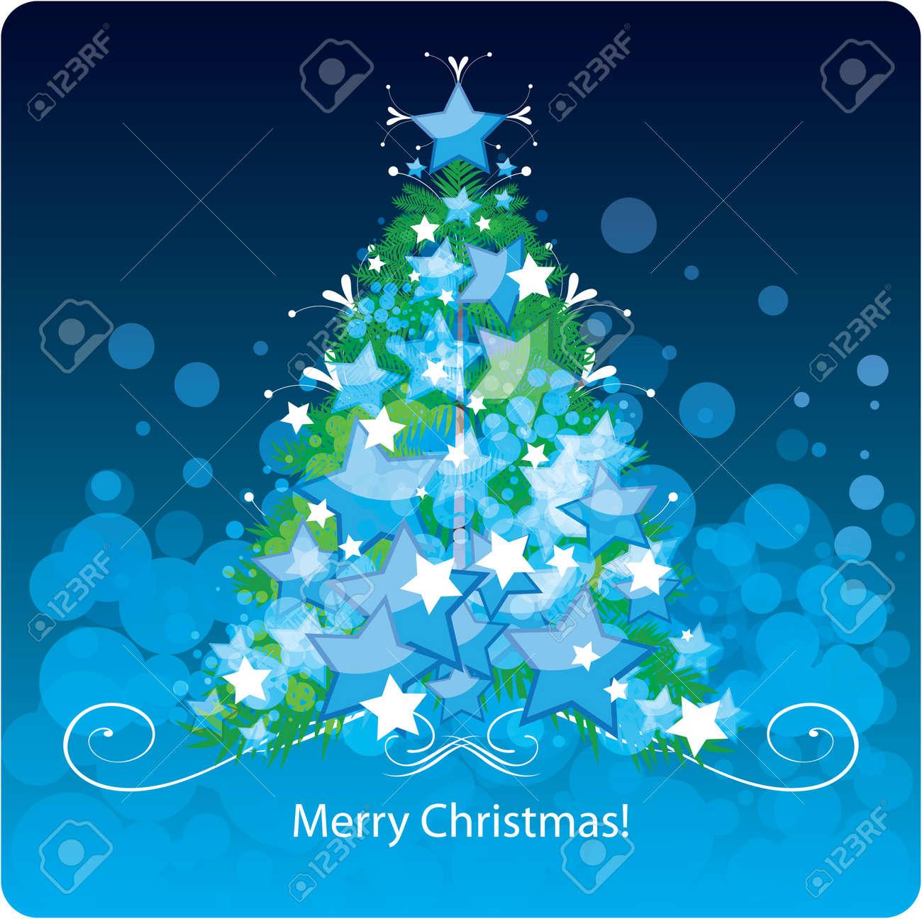 Christmas tree, greetings card - 16105643