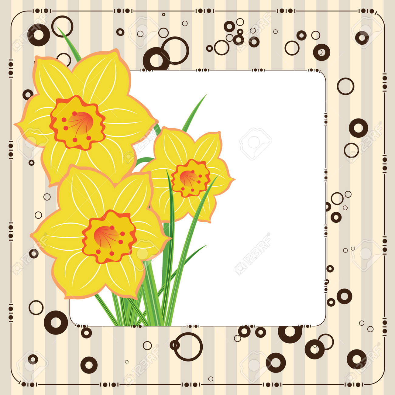 Magnificent 010 Editor Templates Small 10 Envelope Template Illustrator Round 100 Day Glasses Template 100 Greatest Resume Words Young 1099 Agreement Template Coloured1099 Pay Stub Template Bouquet Of Daffodils, Greeting Card, Vector Template Royalty Free ..