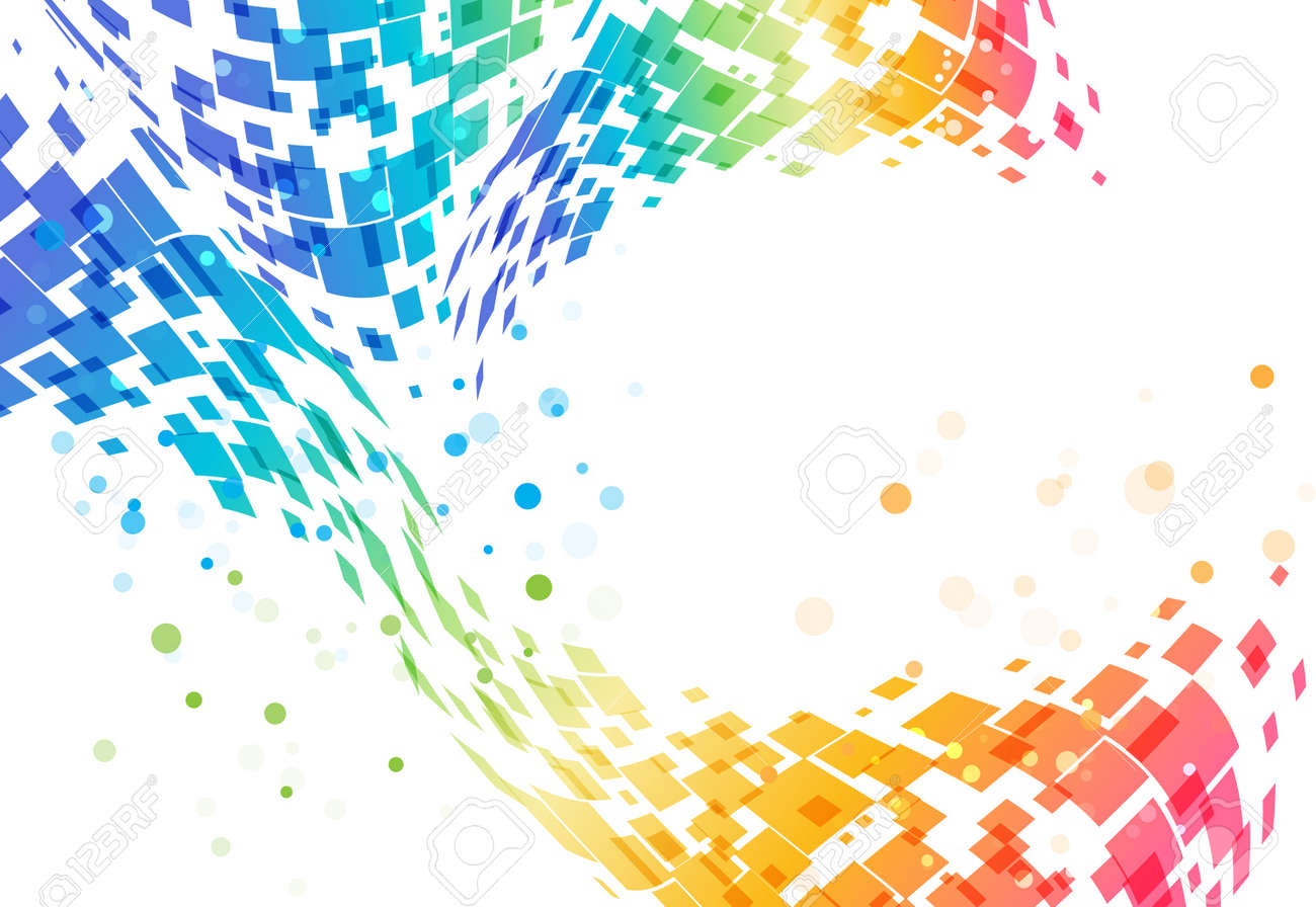 Abstract colorful background, geometric design, tech pattern - 57652985