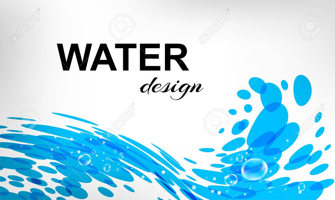 Water design splash wave business card royalty free cliparts water design splash wave business card stock vector 63816977 colourmoves