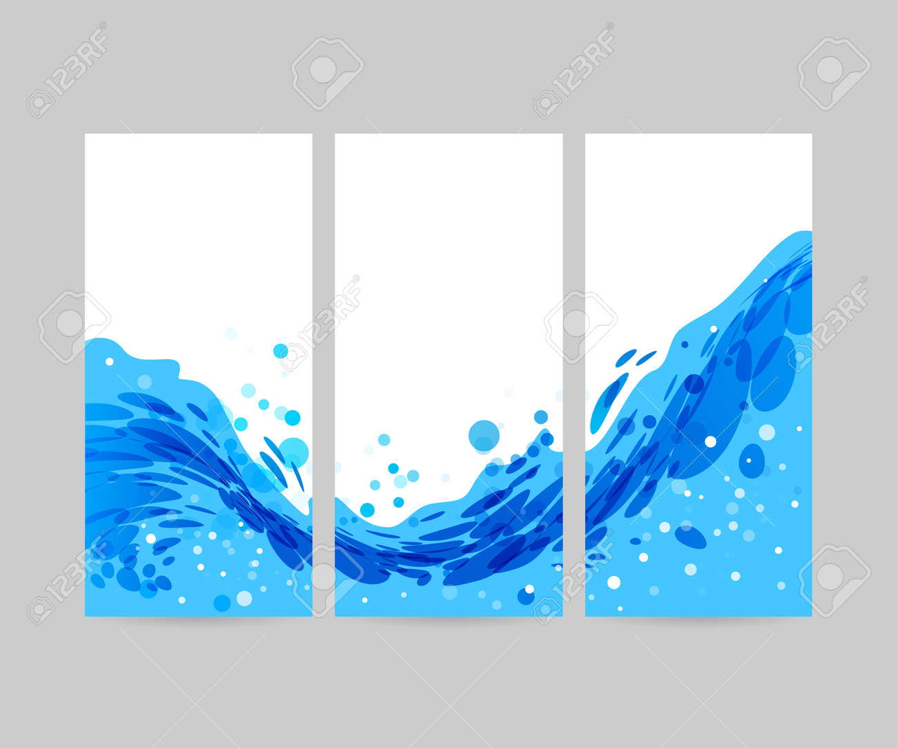 wave abstract stylized background brochure template blue wave