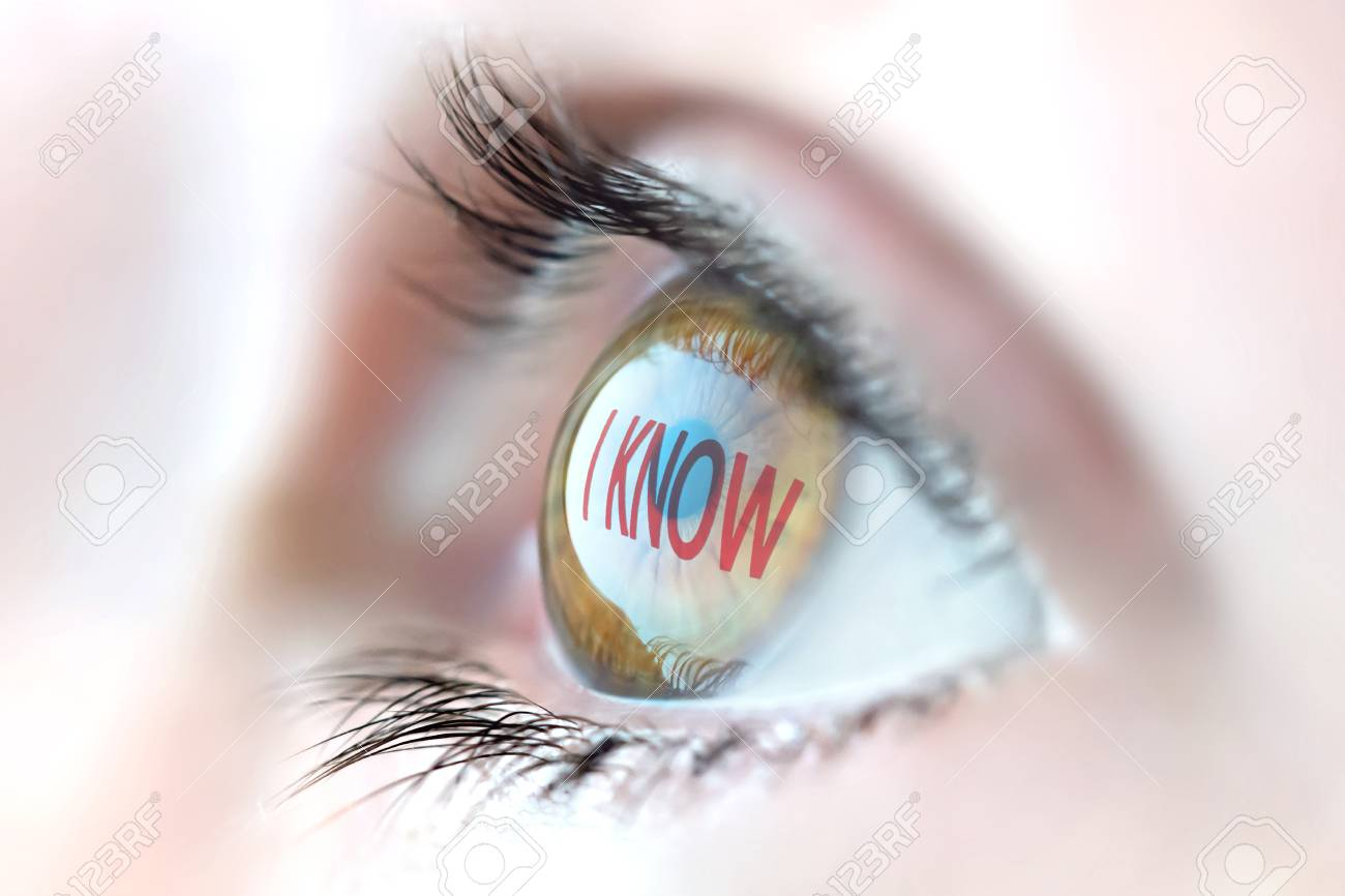 I Know reflection in eye. - 53458490