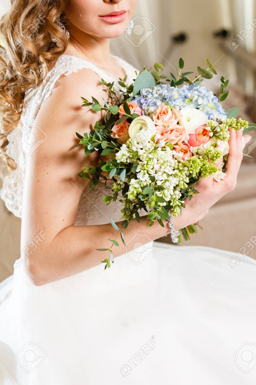 Bridal Bouquet With Red And Burgundy Colors Wedding Stock Photo Picture And Royalty Free Image Image 68838266