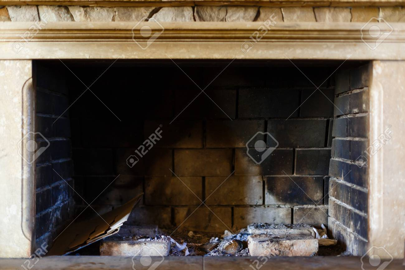 An Outbreak Of Fire Without Fire Fireplace Without Fire Stock Photo