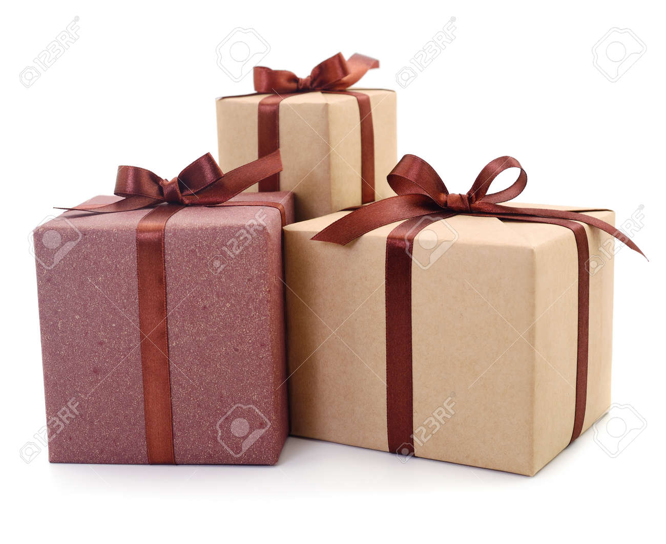 Gift boxes, gifts on a white background isolated. Vacation. Valentine's Day. Women's Day. mothers Day. - 120672065