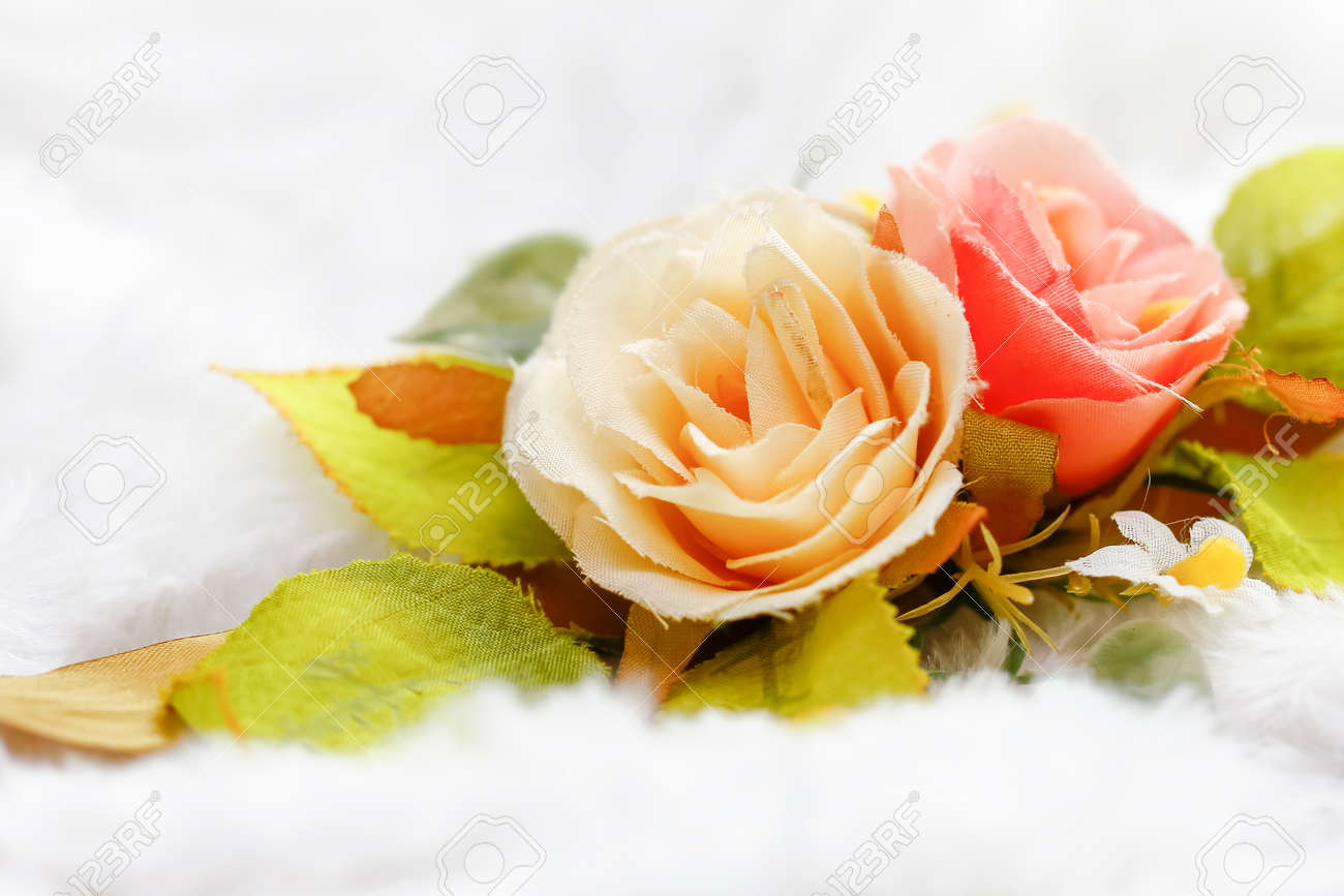 Plastic floral bouquet of different flowers on velvety background plastic floral bouquet of different flowers on velvety background stock photo 93152465 izmirmasajfo Gallery