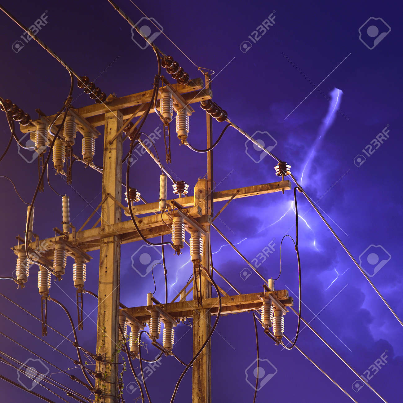 electricity with storm Stock Photo - 14010111