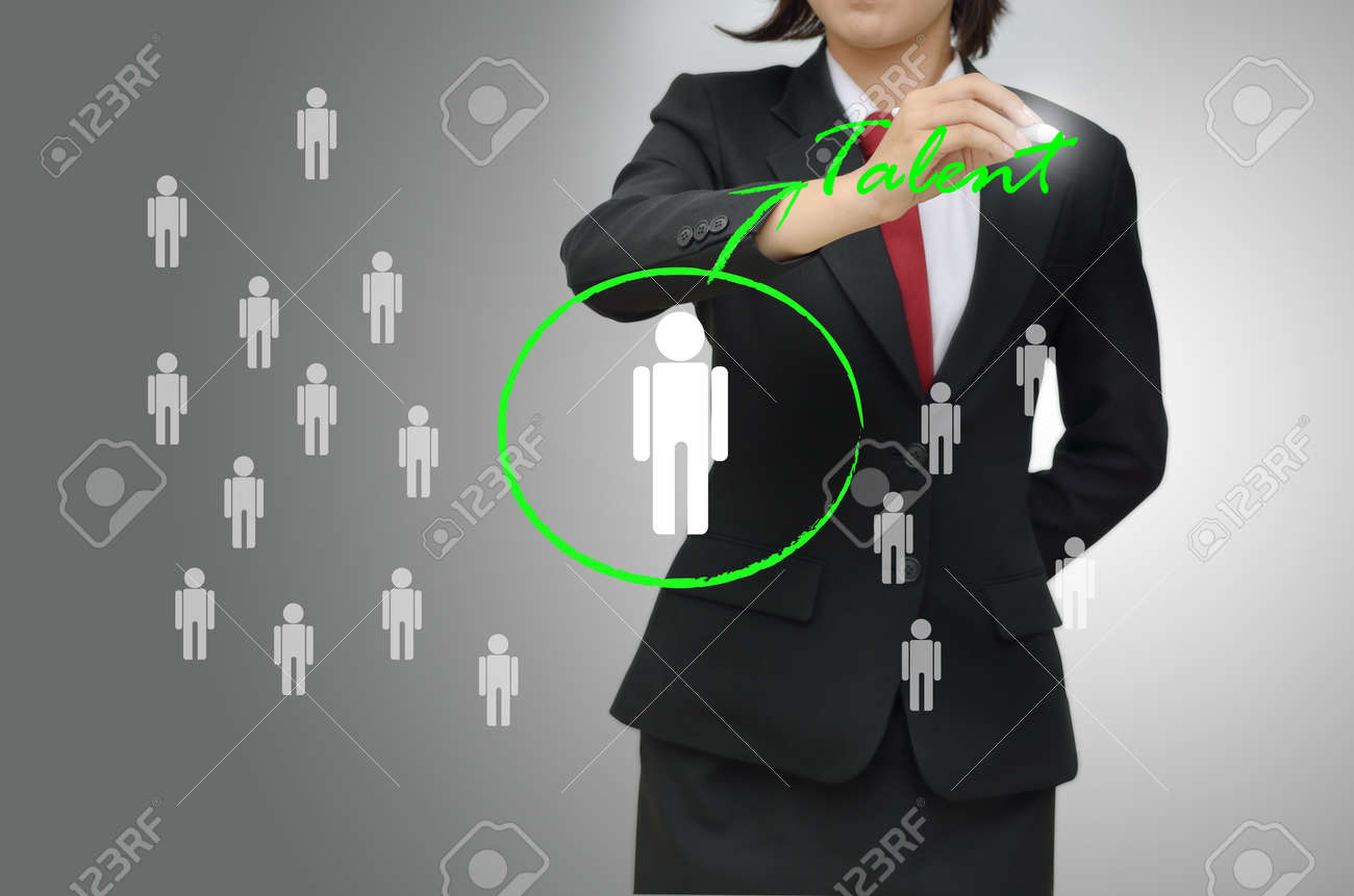 Business woman selected person talented Stock Photo - 21802655