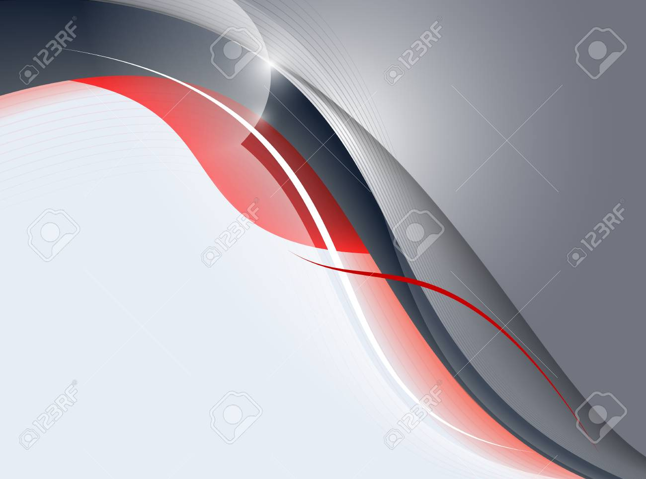 Grey abstraction with red elements Stock Vector - 7688078