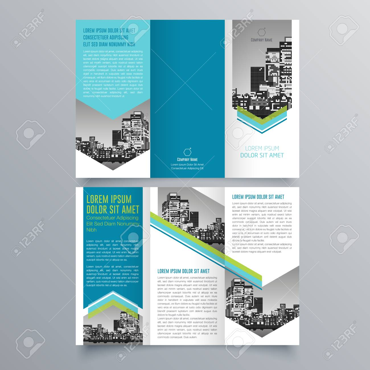 creative tri fold brochure design ロイヤリティフリークリップアート