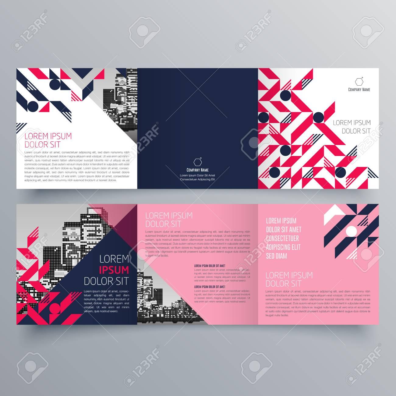 Brochure design, brochure template, creative tri-fold, trend