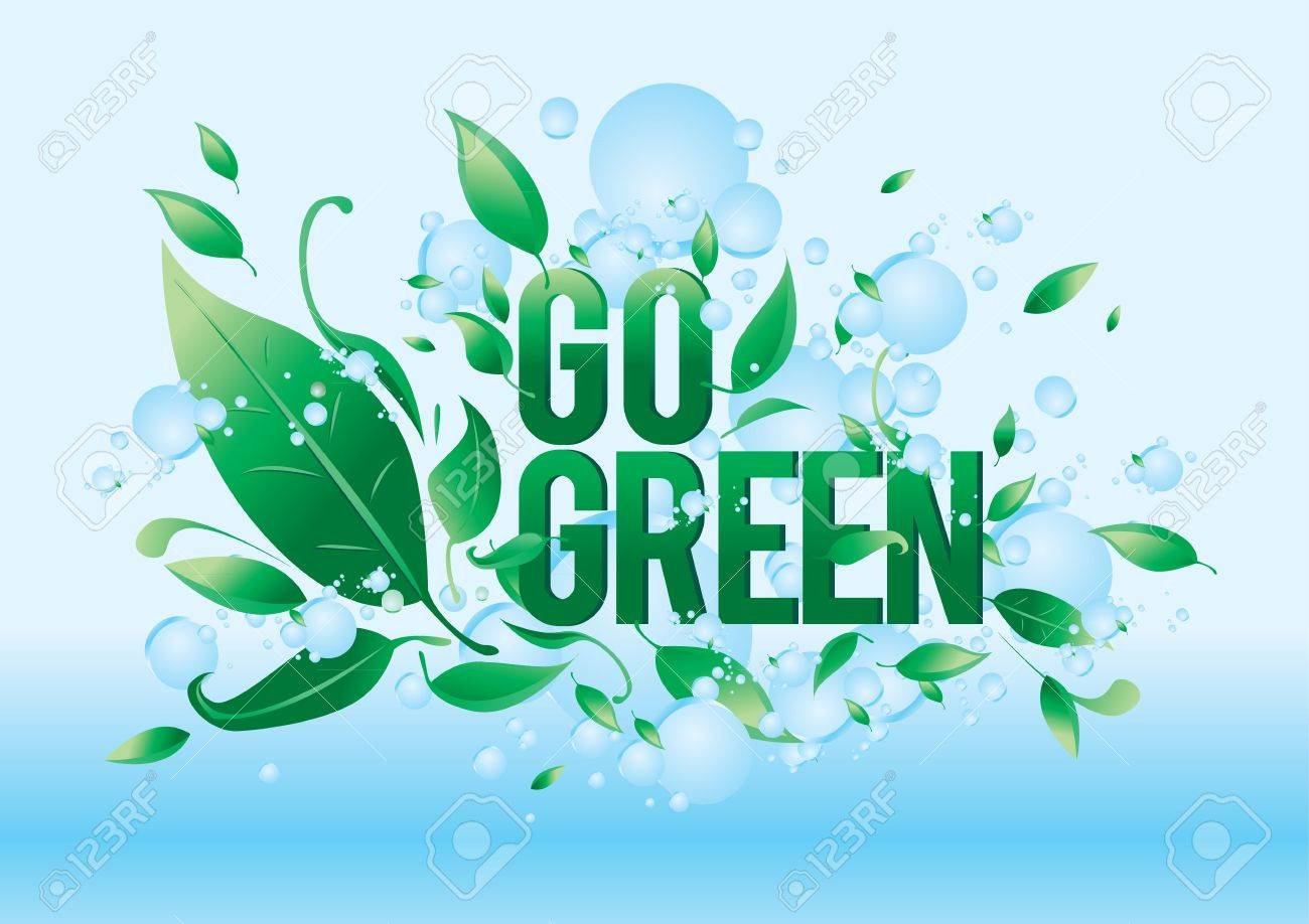 Go Green Symbol Style Design Royalty Free Cliparts Vectors And