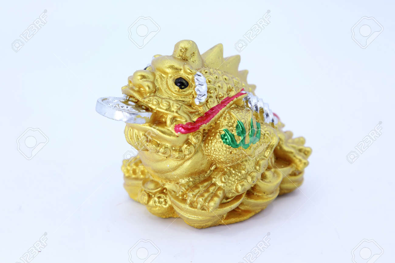 Chinese Feng Shui Frog With Coins Symbol For Abundance And Luck