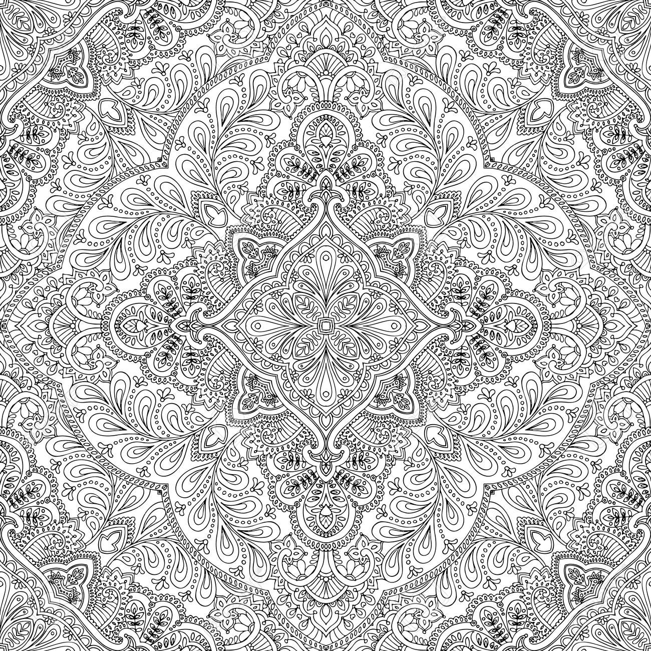 India Vector Paisley Pattern Decorative Ornament For Textile