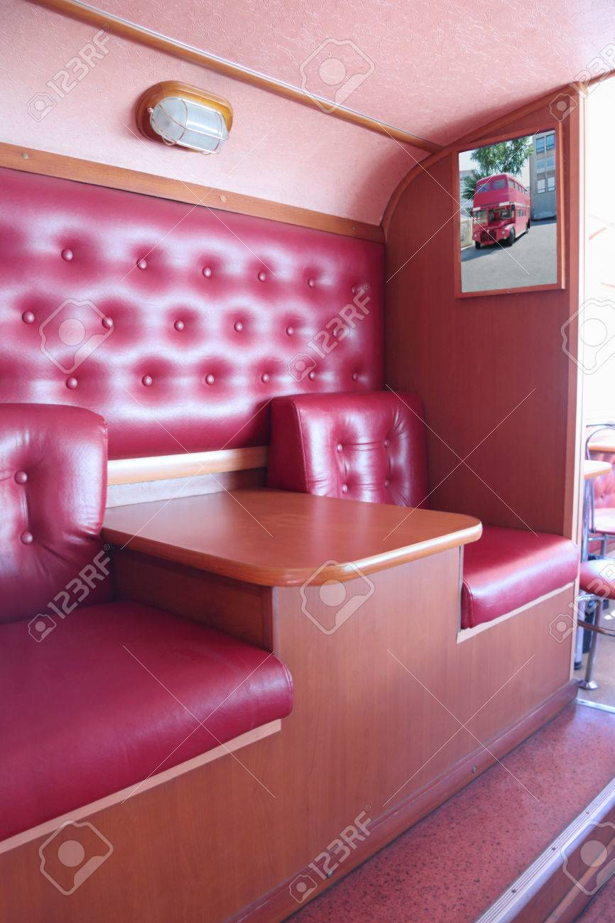 Perm Russia Jun 11 2013 Interior Of Bus Cafe Kentucky Fried Stock Photo Picture And Royalty Free Image Image 34637019