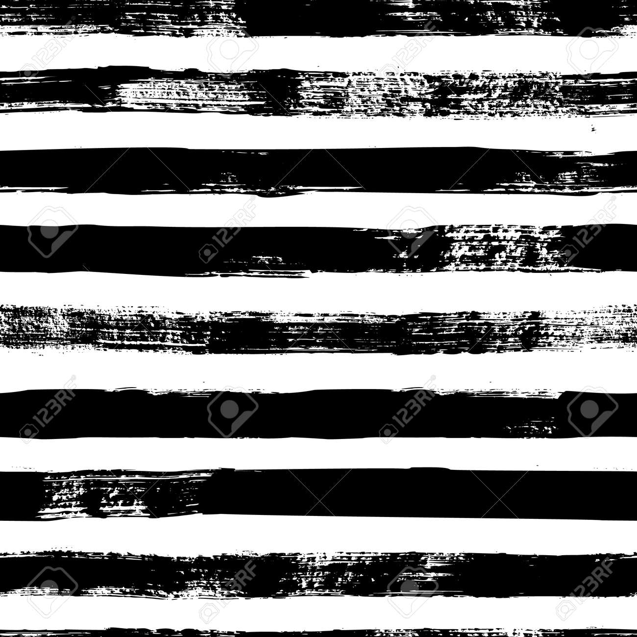Grunge strips seamless pattern. Abstract texture hand drawn with a ink brush strokes. Vector Monochrome Scandinavian background in a simple style for print on textiles, paper, Wallpaper, t-shirts - 137941728