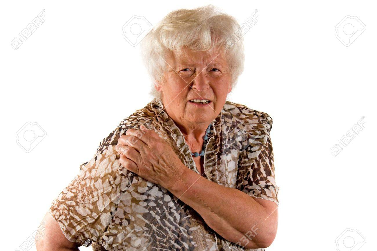 Senior lady with shoulder pain Stock Photo - 9647071
