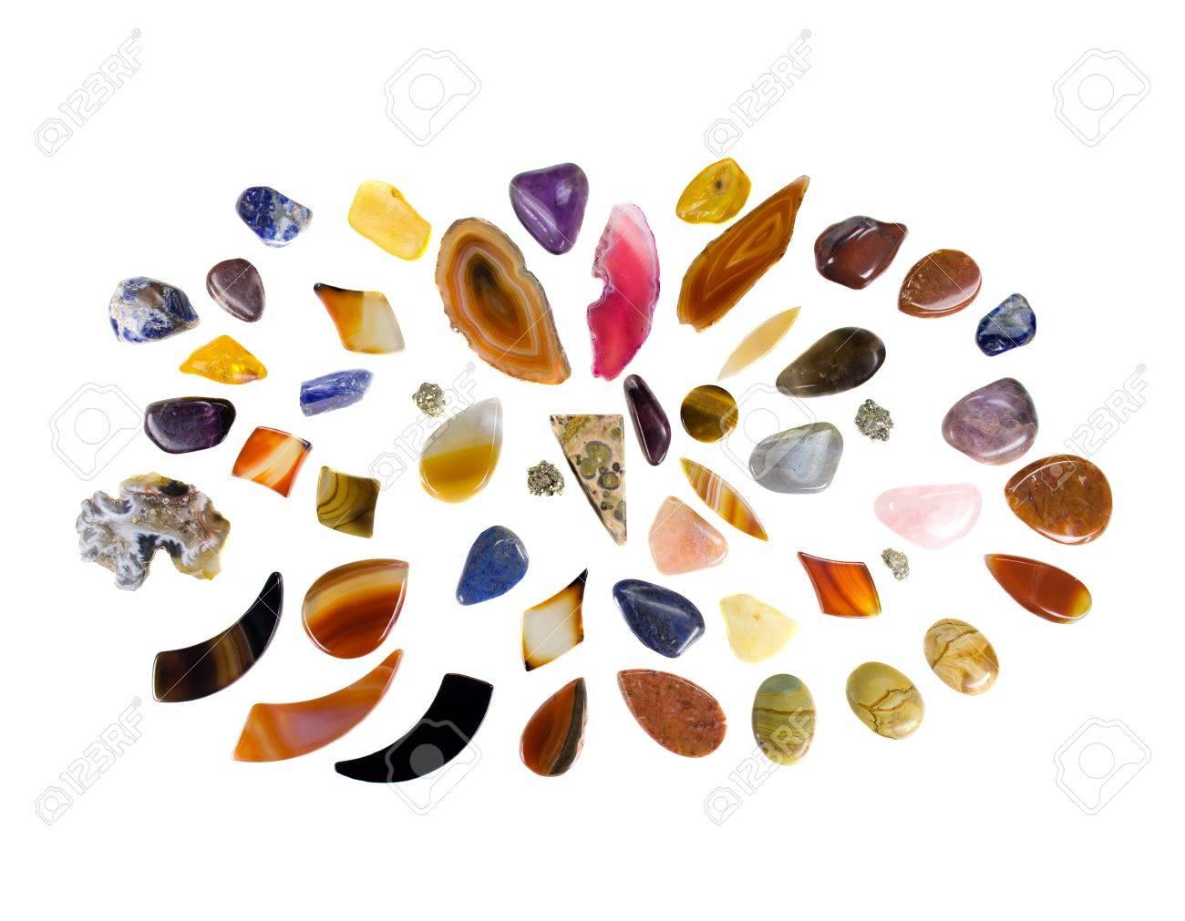 Gemstone Mandala on white background Stock Photo - 11491045
