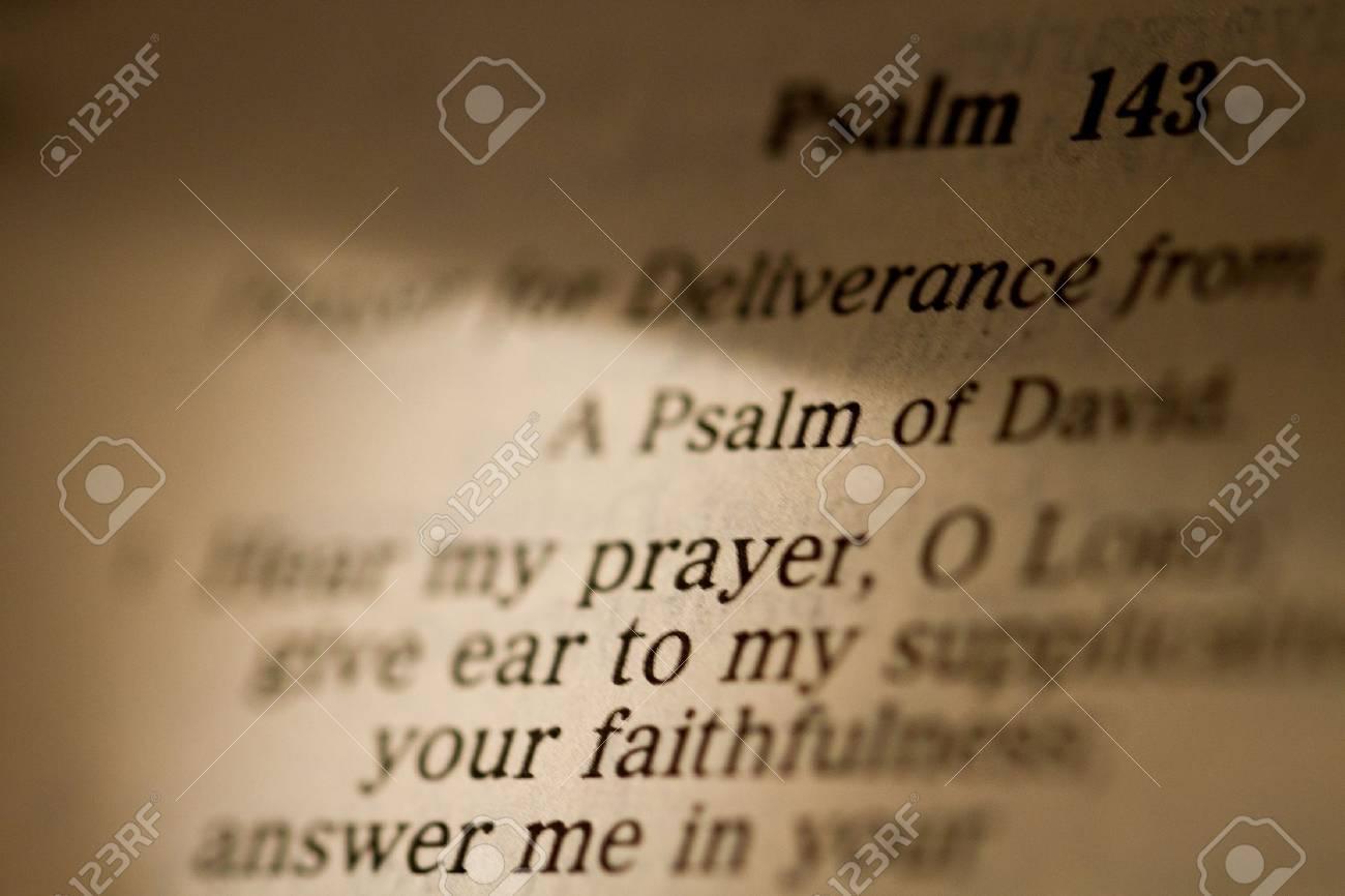 La Oración De Los Salmos En La Biblia Fotos Retratos Imágenes Y