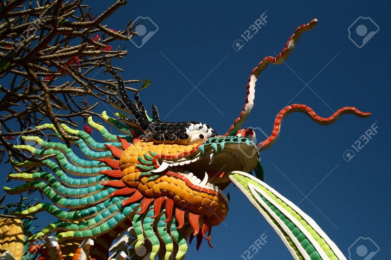Mosaic Sculpture of Dragon at See Shang Island, Thailand Stock Photo - 7696325