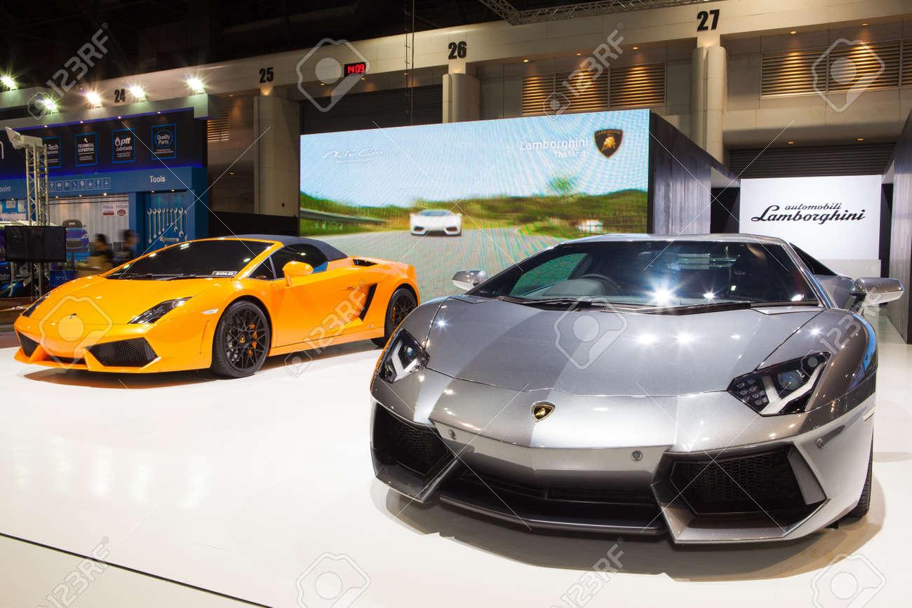 Nonthaburi Thailand June 20 Lamborghini Aventador Displayed