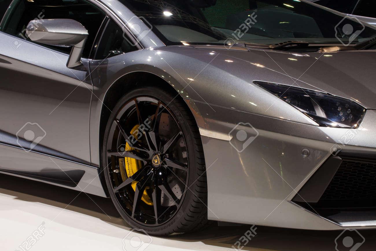 Nonthaburi Thailand June 20 Closed Up Of Lamborghini Aventador
