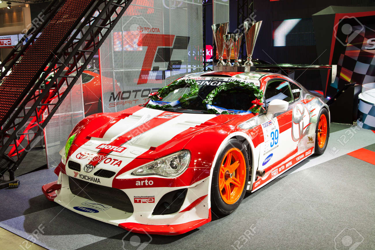 NONTHABURI THAILAND JUNE 20 : Toyota 86 Modified For Racing By Trd At  Bangkok International