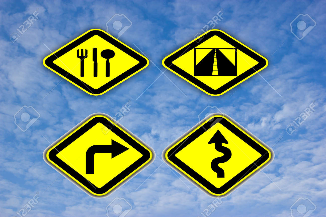Road sign On the sky Stock Photo - 13272972