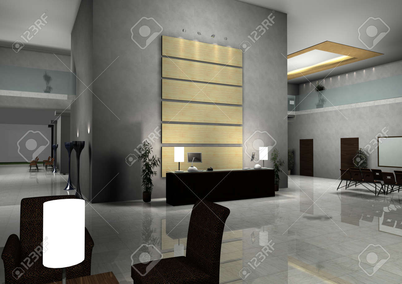 Modernes Design Innenraum Der Halle, Flur. Lizenzfreie Bilder   11889680