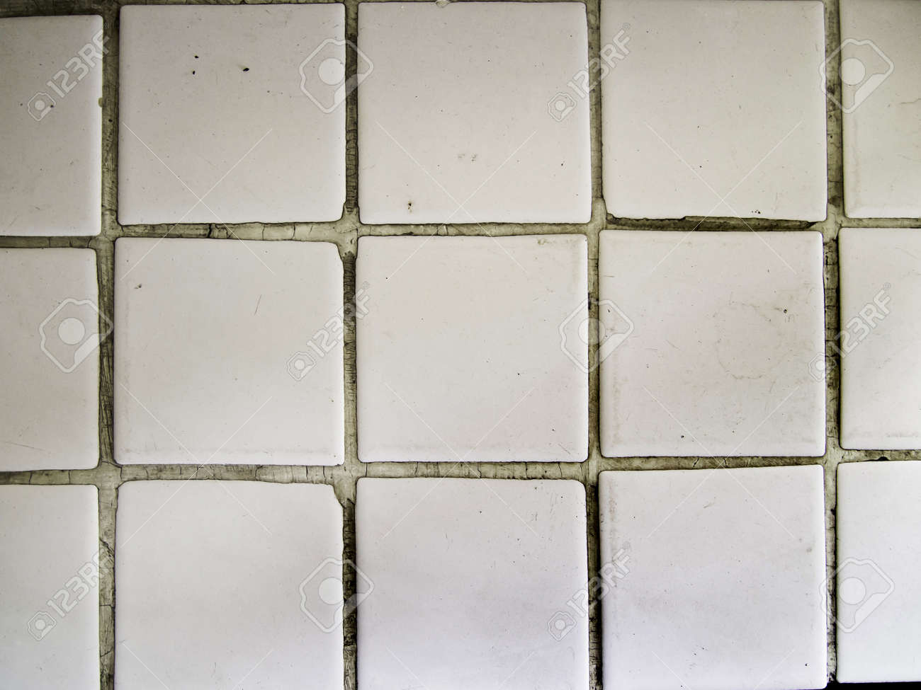 White Square Tiles Texture Pattern Design Stock Photo Picture And