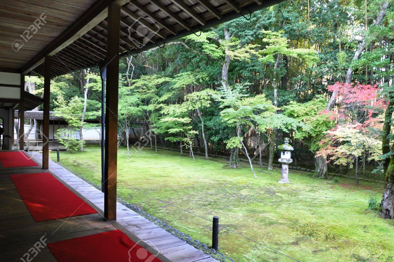 Japanese garden in the Koto-in a sub-temple of Daitoku-ji - Kyoto, Japan  Stock Photo - 17837918