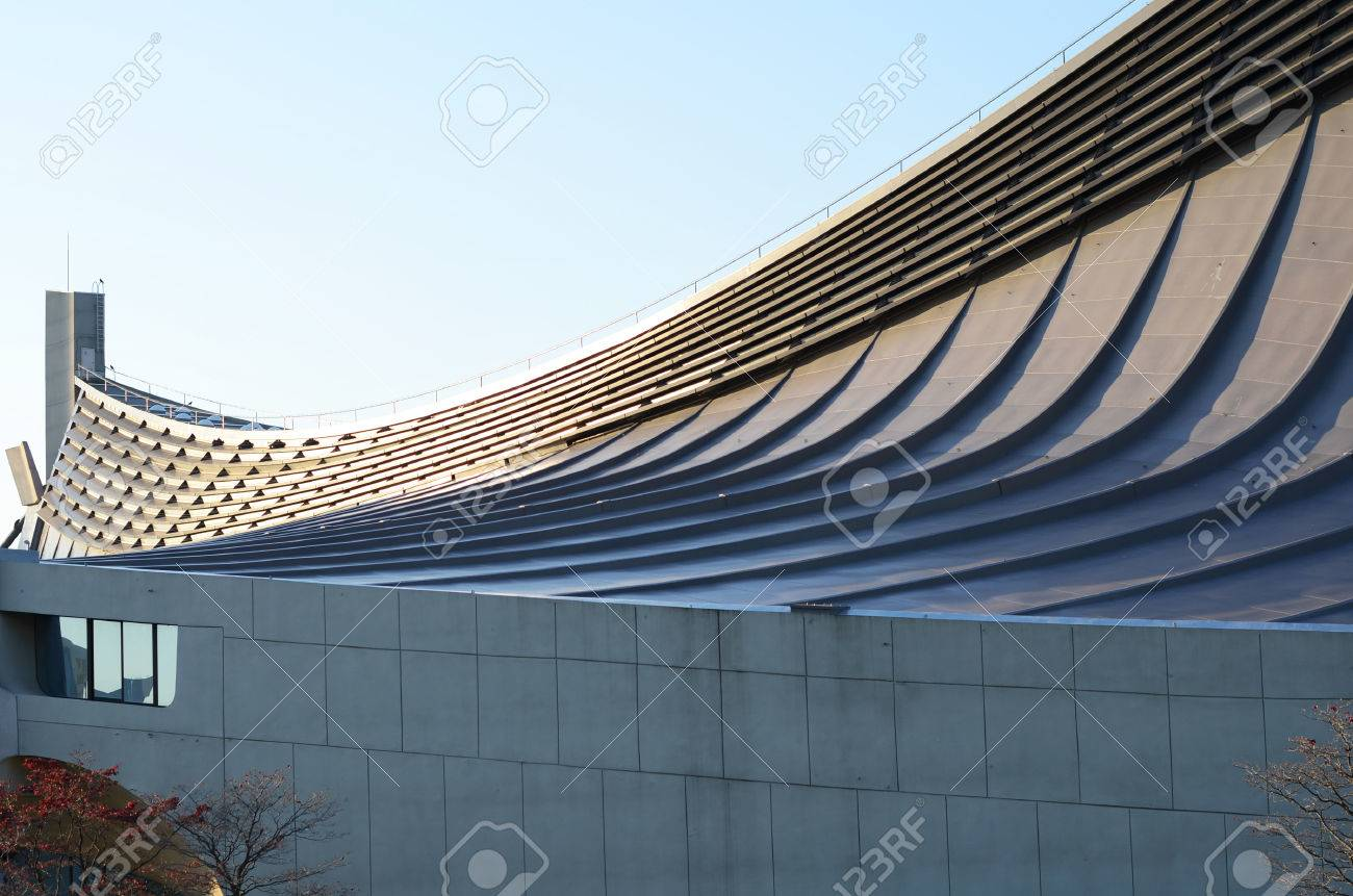 free form roof  Free Form Roof of Yoyogi National Gymnasium in Tokyo, Japan