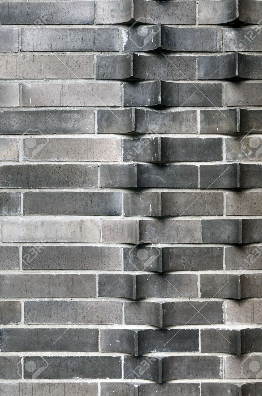 Extruded Brick Wall, Horizontal Arrangements Stock Photo, Picture ...