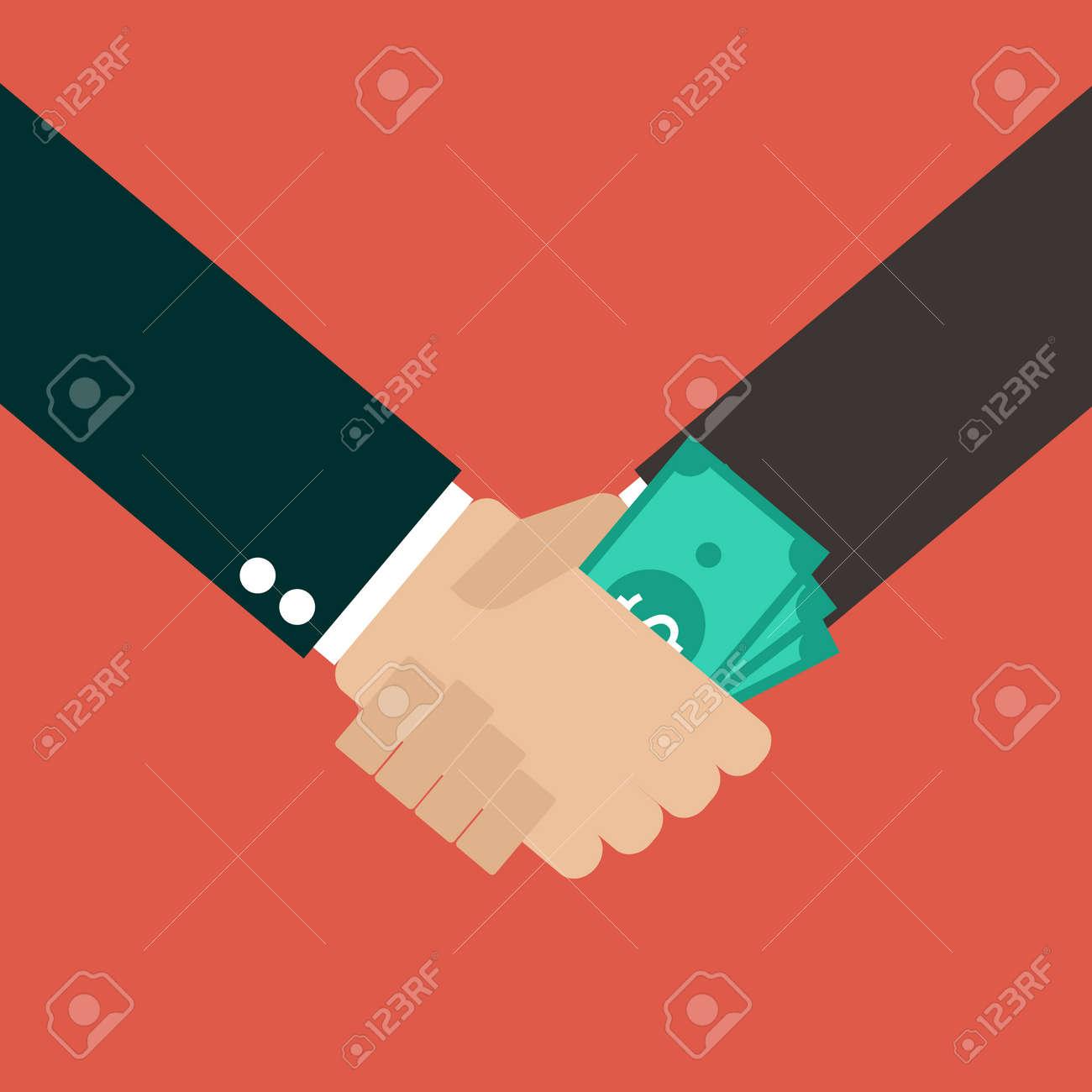 Business Corruption Handshake - 45244802