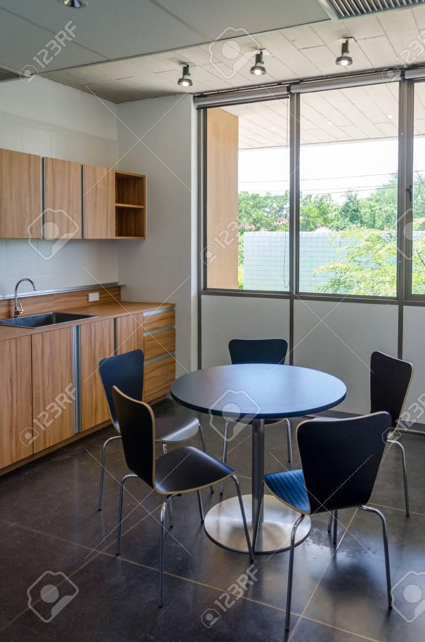 Modern office kitchen interior - 53569186