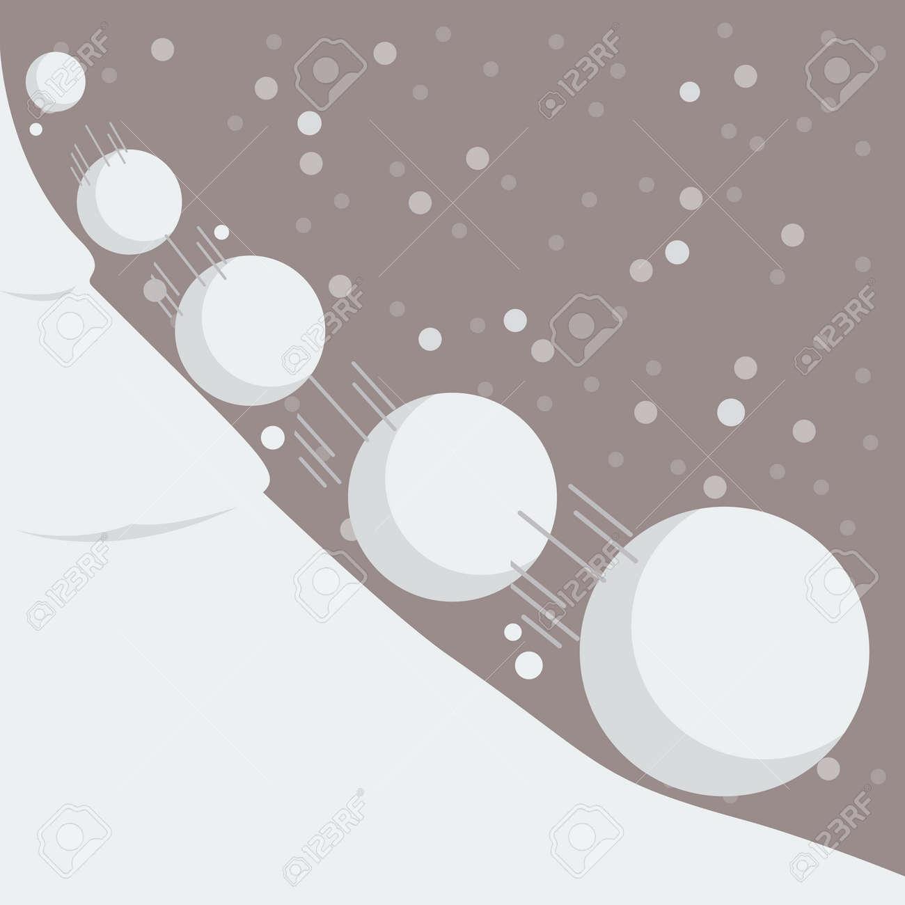 Snowball effect. Vector Illustration - 59191474