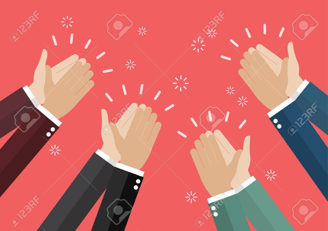 Human hands clapping. vector illustration - 66090186