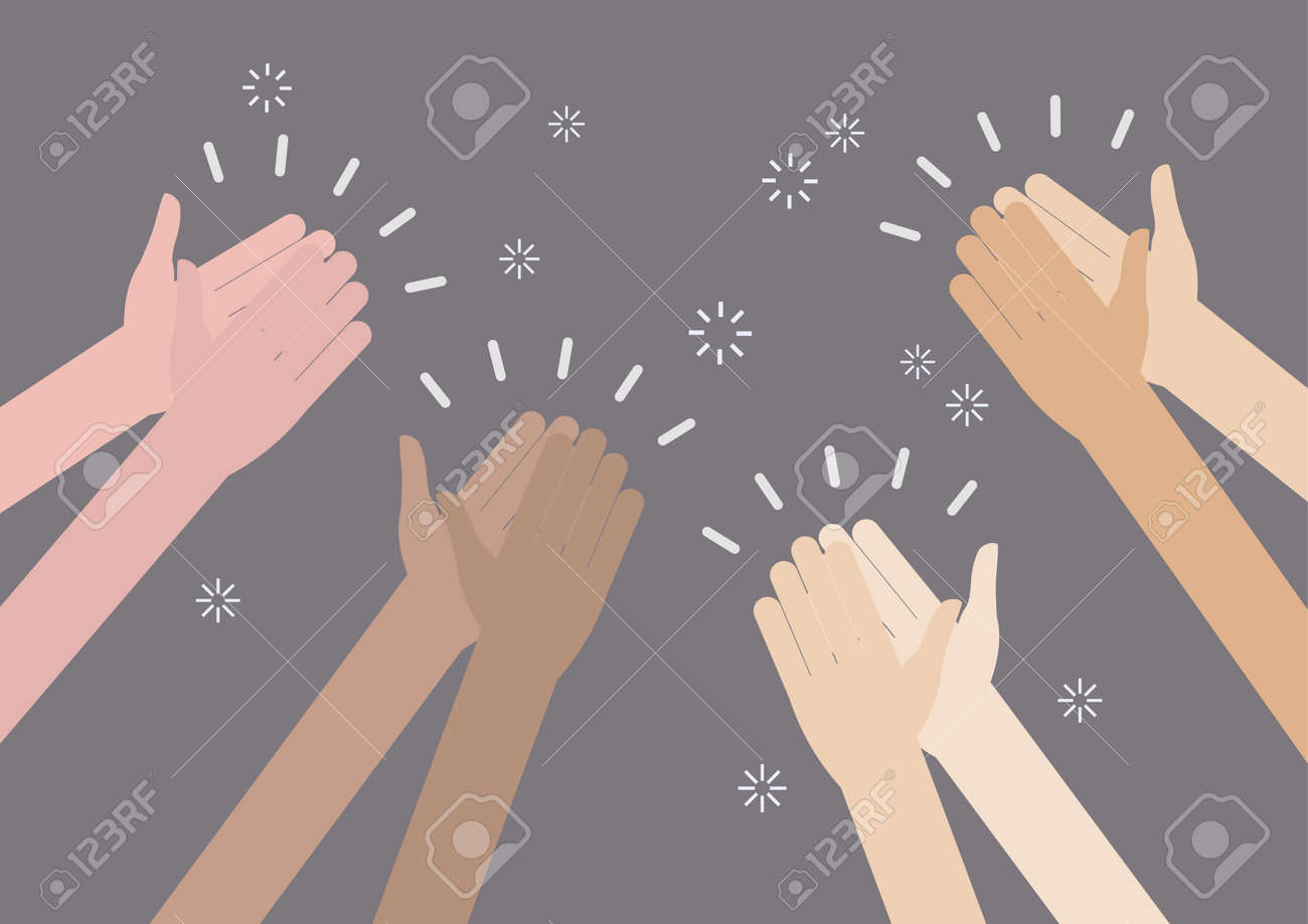 Human hands clapping ovation. vector illustration - 66693117