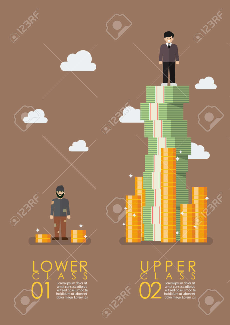 Social stratification gap infographic. Vector illustration Banque d'images - 73347971