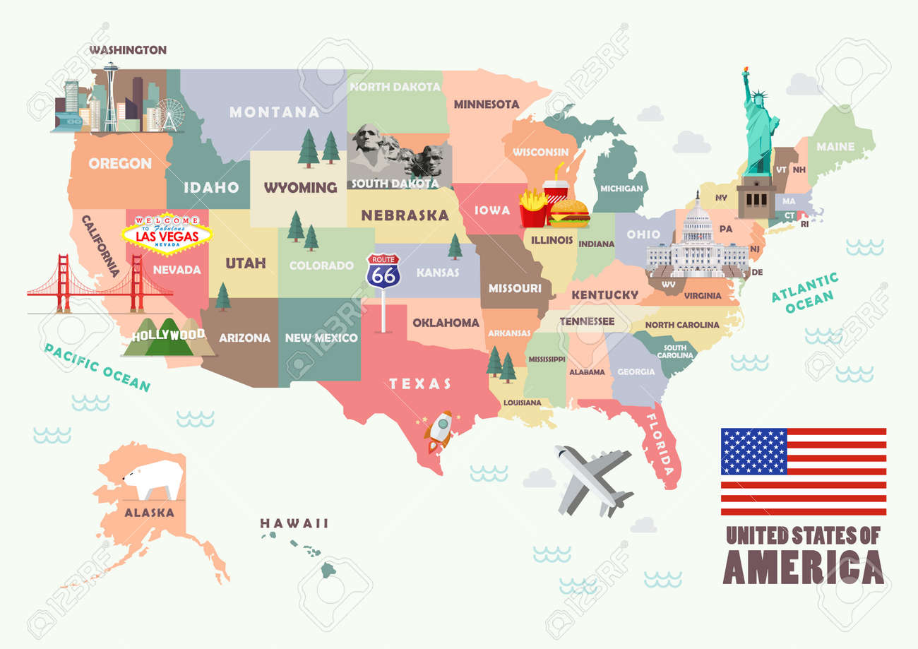 Map of the United States of America with Famous attractions... United States Attractions Map on us sightseeing map, fun united states map, united states north carolina attractions, top u.s vacation destinations map, chinese hong kong mtr map, usa map, united states nature map, streets of new york city map, united states natural attractions, united states fishing map, travel destinations united states map, united states map rivers only, united states tourist attractions, united states antiques map, united states golf map, large blank united states map, printable labeled united states map, united states flights map, united states map with state parks,