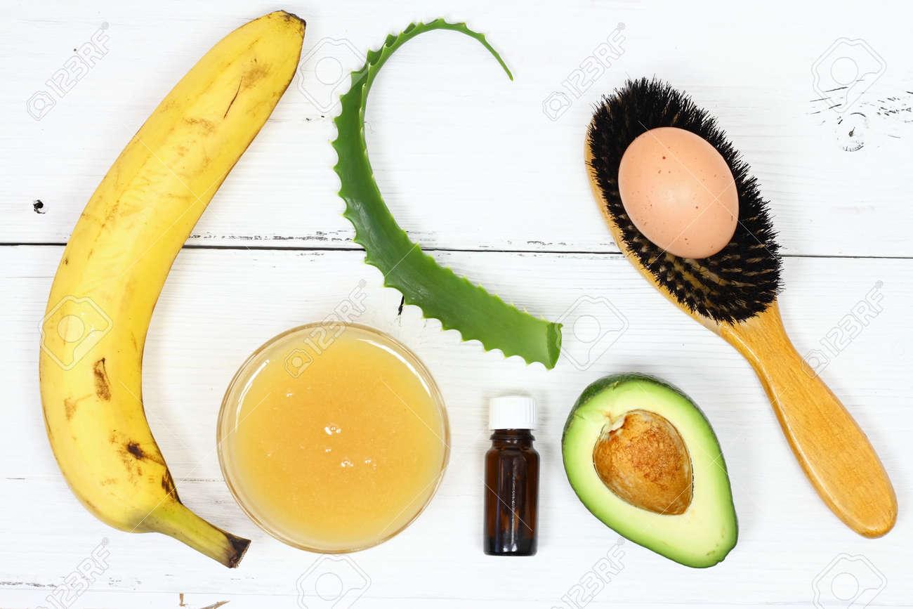 Hair Mask Fron Banana Honey Aloe Avocado Egg Ingredients