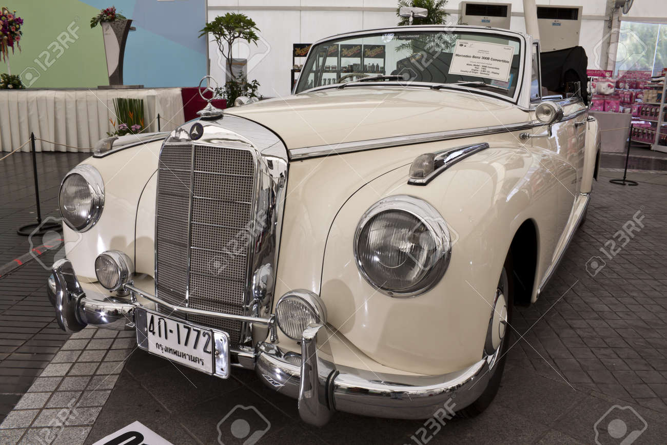 Bangkok June 23 Mercedes Benz 300b Convertible Vintage Cars Stock Photo Picture And Royalty Free Image Image 10444156
