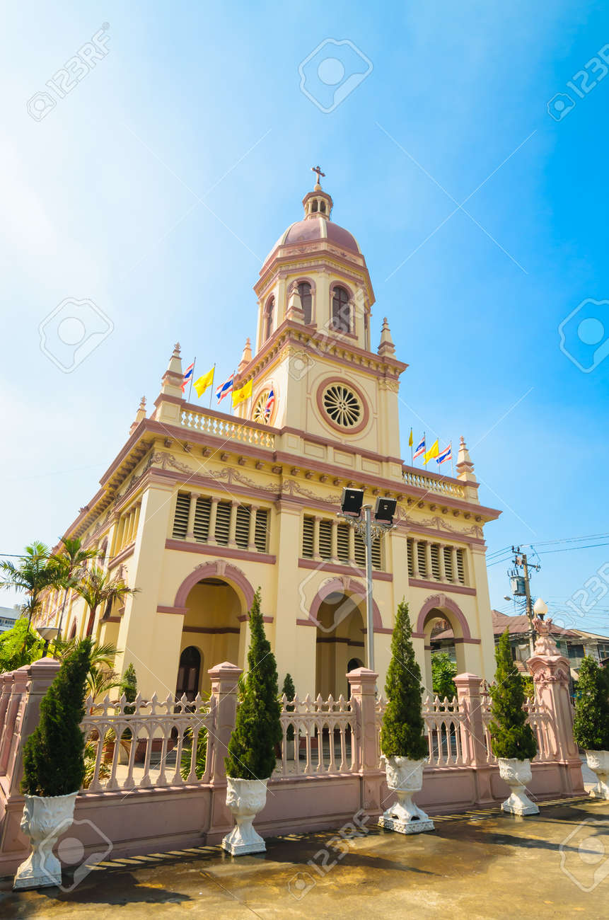 Church in bangkok province (Thailand.) Stock Photo - 17293206