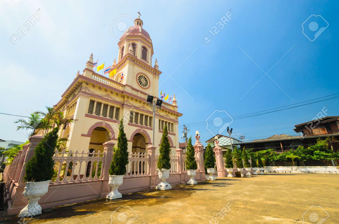 Church in bangkok province (Thailand.) Stock Photo - 17293056