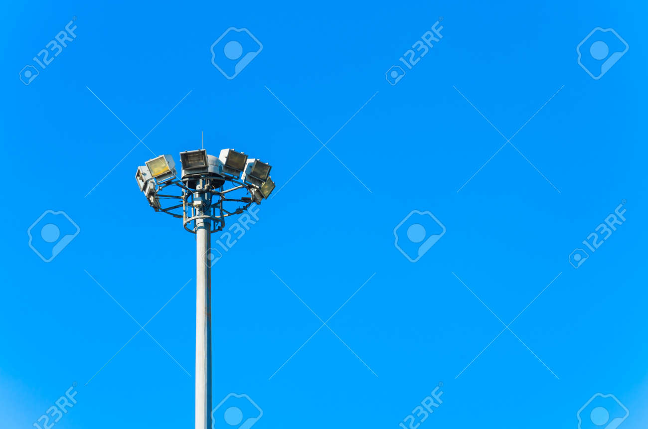Lamp with blue sky. Stock Photo - 17292767