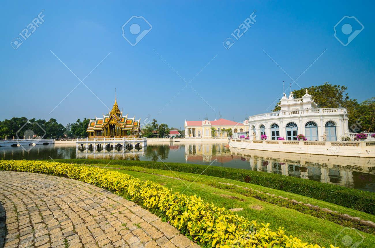 Palace in bang-pa-in park at ayutthaya province (Thailand.) Stock Photo - 17496842