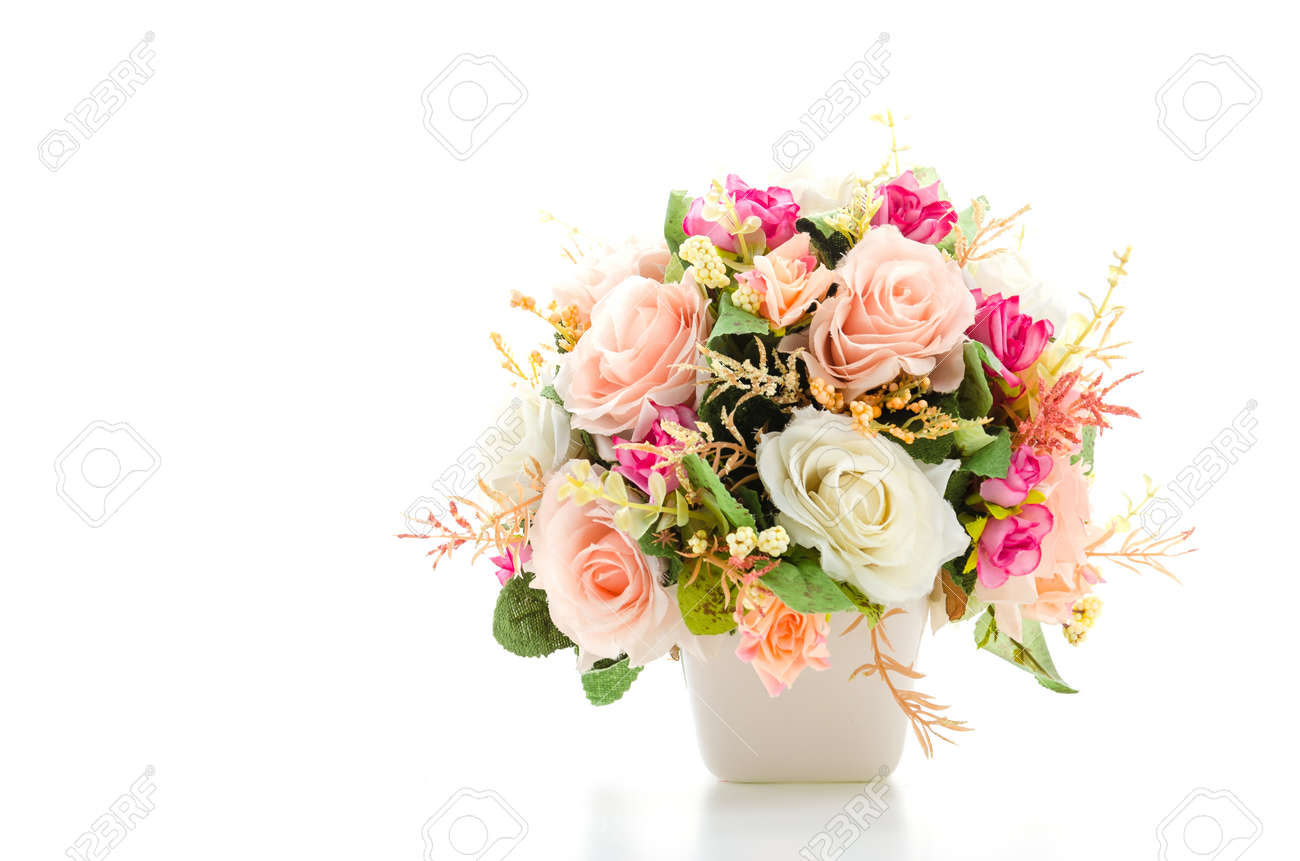 Bouquet flowers isolated on white - 27977838