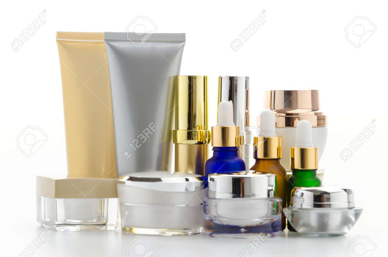 Cosmetics bottle isolated on white Standard-Bild - 28655849