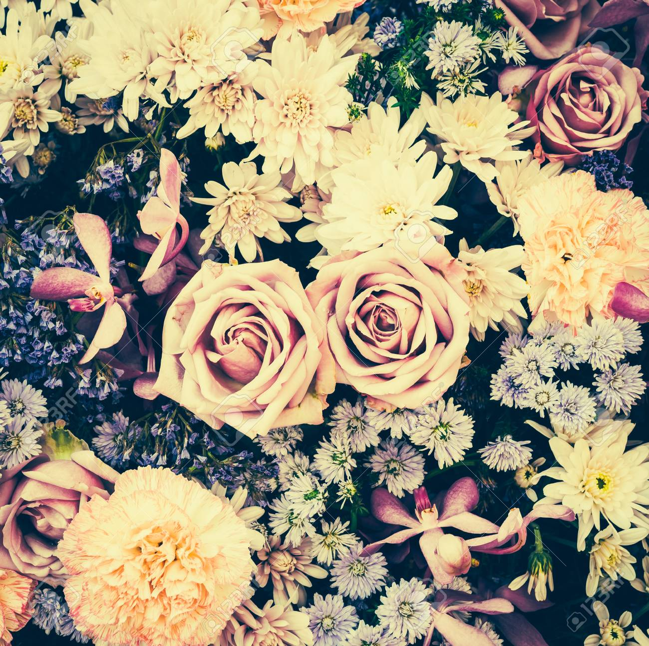 Vintage Old Flower Backgrounds Vintage Effect Style Pictures